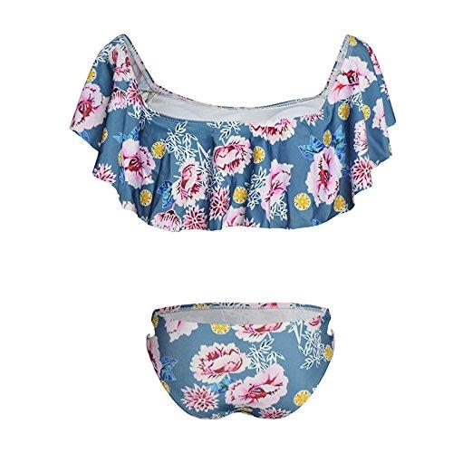 Motif De Petite Deux Acvip Bikini Maillot Femme Pièces Bain Fleur Sxq04