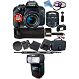 Canon EOS Rebel T7i DSLR Camera 18-55mm Lens 1894C002 + Canon Speedlite 470EX-AI 1957C002 USA Model Bundle