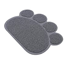 Pet Feed Mat, Pet Clean Pad, Pet Placemat, Pet Food Mat Dog, Cat Puppy, Silicone Feeding Mat Safe Feeding Dish Bowl Stand Wipe Waterproof Not-slip Dinner Bowl Mat (s, grey)
