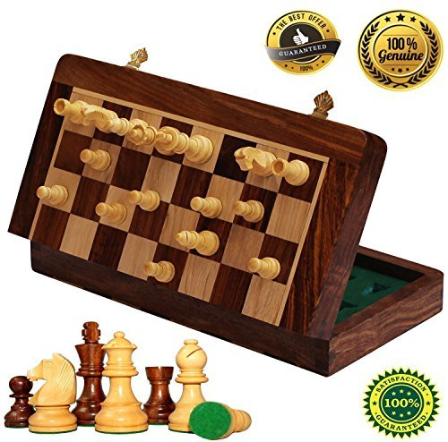 『2年保証』 BKRAFT4U 30cm x 30cm Chess x Set 2 - Handmade Wooden Magnetic Rosewood Foldable Magnetic Chess Game Board with Storage Slots, 30cm 2 Queens B01BY7ZQZG 10 Inch 10 Inch, 消費税無し:9b2617a8 --- nicolasalvioli.com