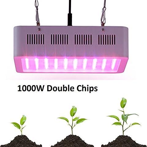 Vander LED Grow Lights With UV/IR Lamp for Indoor Plants, 1000W LED Bulbs UFO Full Spectrum LED Grow Light (Spectrum 400w Hps Bulb)