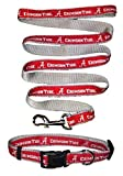 Alabama Crimson Tide Nylon Collar and Matching Nylon Leash for Pets (NCAA Official by Pets First) Size Medium