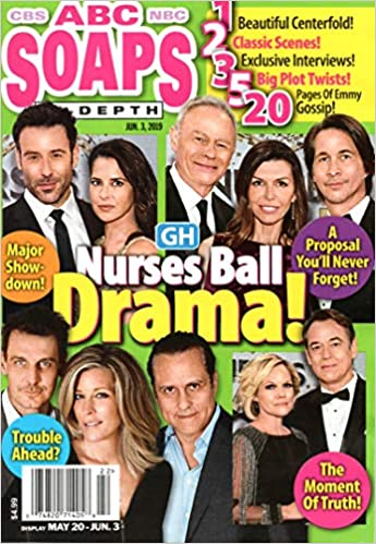 Amazon Com Abc Soaps In Depth Magazine June 3 2019 Tristan Rogers Finola Hughes Michael Easton Jon Lindstrom Maura West Maurice Benard Laura Wright Ingo Rademacher General Hospital Nurses Ball Dawn Owens Richard