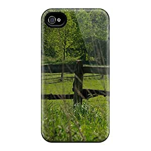 Iphone 4/4s Hard Back With Bumper Silicone Gel Tpu Case Cover White Horse Selected