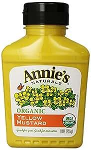 Annie's Organic Yellow Mustard  9 oz Bottle