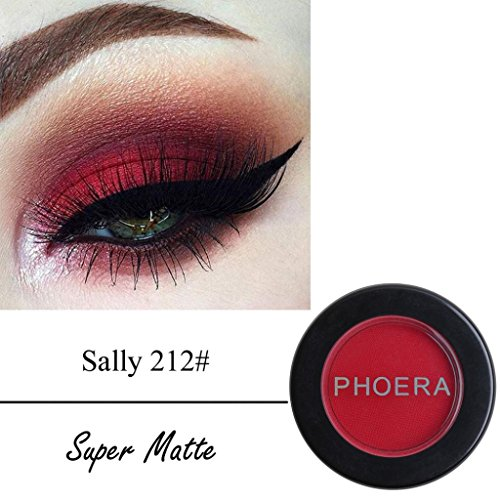 Roysberry EyeShadow, Waterproof Matte Beauty Powder, Long-lasting Natural Rainbow Round Set Shimmer Metallic Lady Makeup Glitter Eye Shadow Golden Color Round Colorful Beauty Glazed (212 Sally)