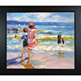 "overstockArt ""At The Seashore"" Framed Artwork by Edward Henry Potthast"