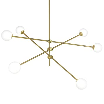 Amazon.com: Pendant lights Nordic Round Glass Ball Ceiling ...