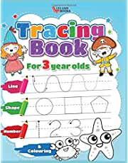 Tracing book for 3 year olds: Numbers, Lines, Shapes and Colouring