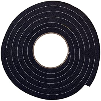 """Black Foam Weather-Strip Tape 10/' High Density 6 Pack Thermwell 3//8/"""" x 3//16/"""""""