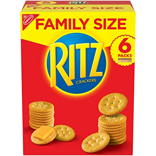 RITZ Crackers, Original Flavor, Family Size Boxes, Pack of 6