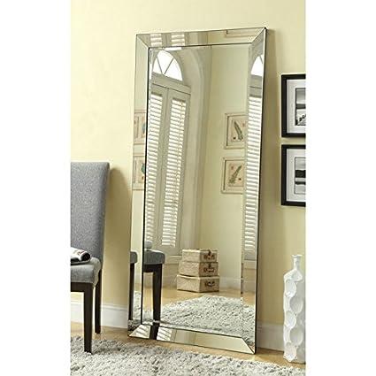 Amazon.com: Coaster Silver Mirror-framed Large Mirror, silvertone ...