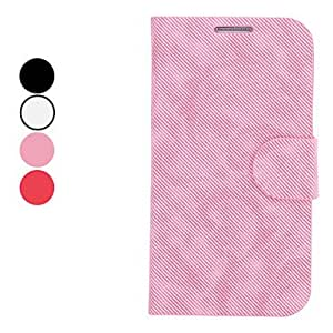 Knitting Grain PU Leather Case with Stand and Card Slot for Samsung Galaxy S4 I9500 (Assorted Colors) --- COLOR:Black