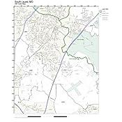 Laurel Md Zip Code Map.Amazon Com Zip Code Wall Map Of South Laurel Md Zip Code Map Not