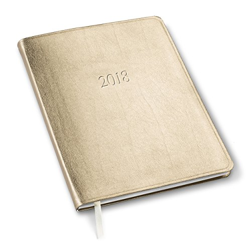 2018 Large Monthly Planner Metallic Gold 9.75