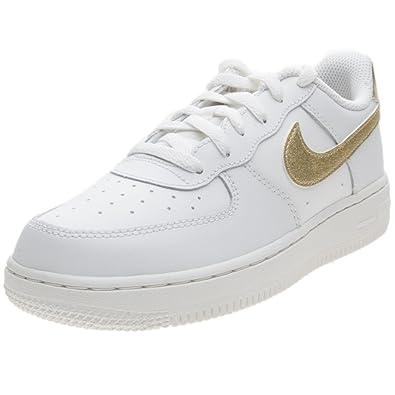 pretty nice 85eb5 65ec8 Nike Girls Force 1 (PS) Basketball Shoes MTLC Gold Star-Summit White 127
