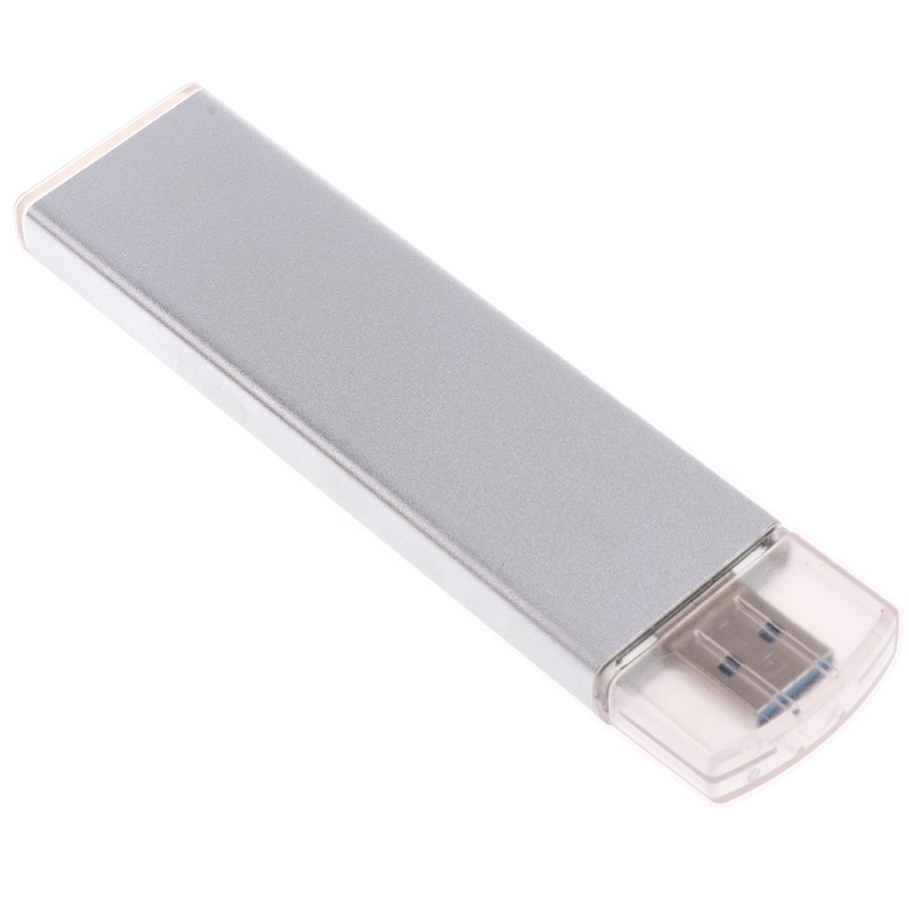 IPOTCH M.2 Carcasa USB 3.0 a NGFF SSD M.2 Adaptador para 2230 2242 2260 2280 SSD Caja de Disco Duro Externo - Plata