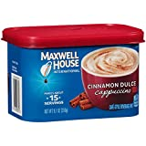 Maxwell House International Cafe Flavored Instant Coffee, Cinnamon Dulce Cappuccino, 9.1 Ounce Canister (Pack of 4)