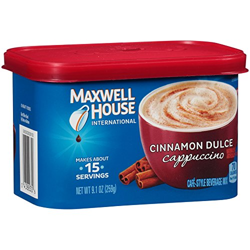(Maxwell House International Cafe Flavored Instant Coffee, Cinnamon Dulce Cappuccino, 9.1 Ounce Canister (Pack of 4))