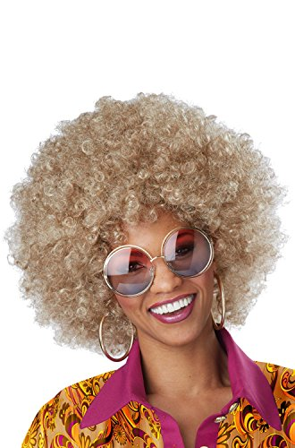California Costumes Women's Foxy Lady Wig, Dirty Blonde, One (Gold Afro Wig)