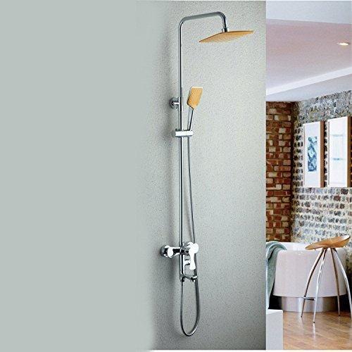 GuoEY Home Badezimmer Dusche alle BedürfNässe in Kupfer kalt Heiß aufgeladenen Super Thin Top Spray Dusche Dusche mit Skala Kostüm