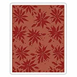 Sizzix 662433 Texture Fades Embossing Folder, Poinsettias by Tim Holtz, Multi