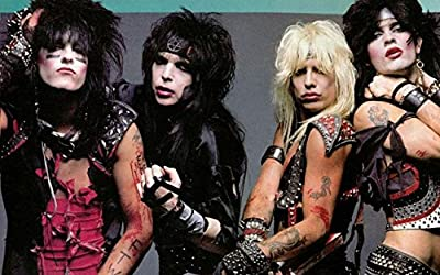 MOTIVATION4U Mötley Crüe, an American Heavy Metal Band, Nikki Sixx, Tommy Lee, Vince Neil, Mick Mars, one of The Bands 12 X 18 inch Poster