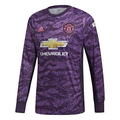adidas 2019-2020 Man Utd Home Goalkeeper Football Soccer T-Shirt Jersey -