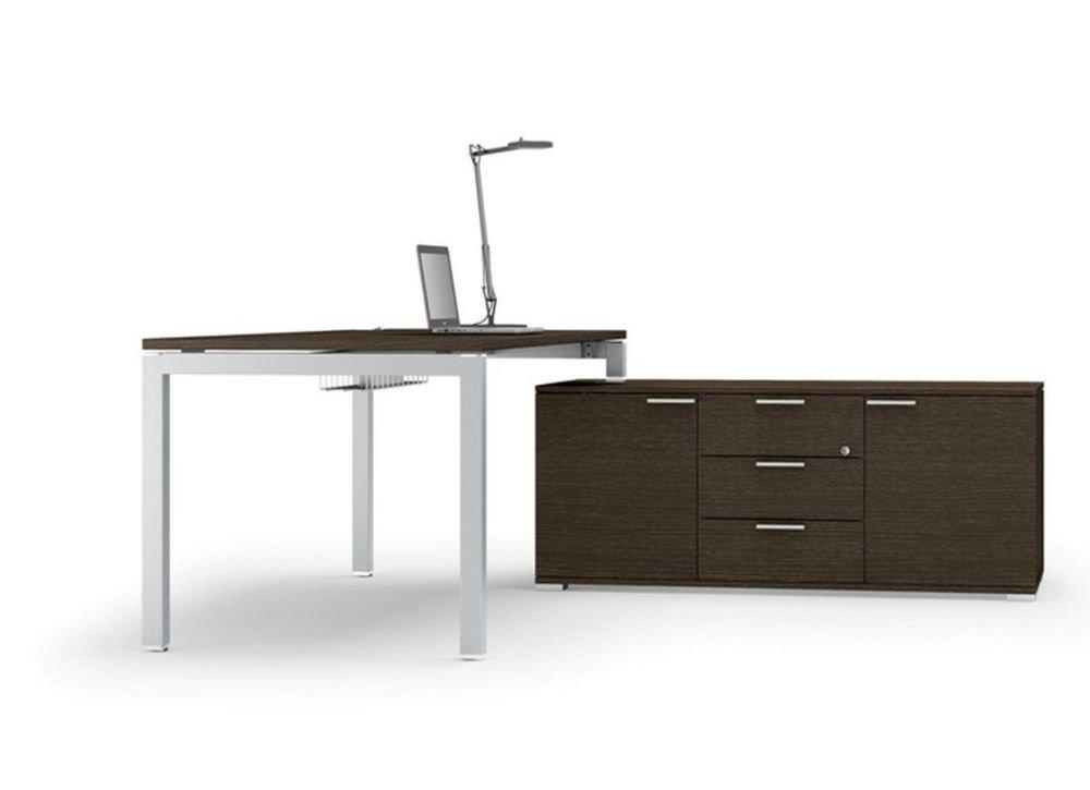 Schreibtisch mit Sideboard Gate, Chef Schreibtisch, Chefbüro, hochwertige Bürommöbel