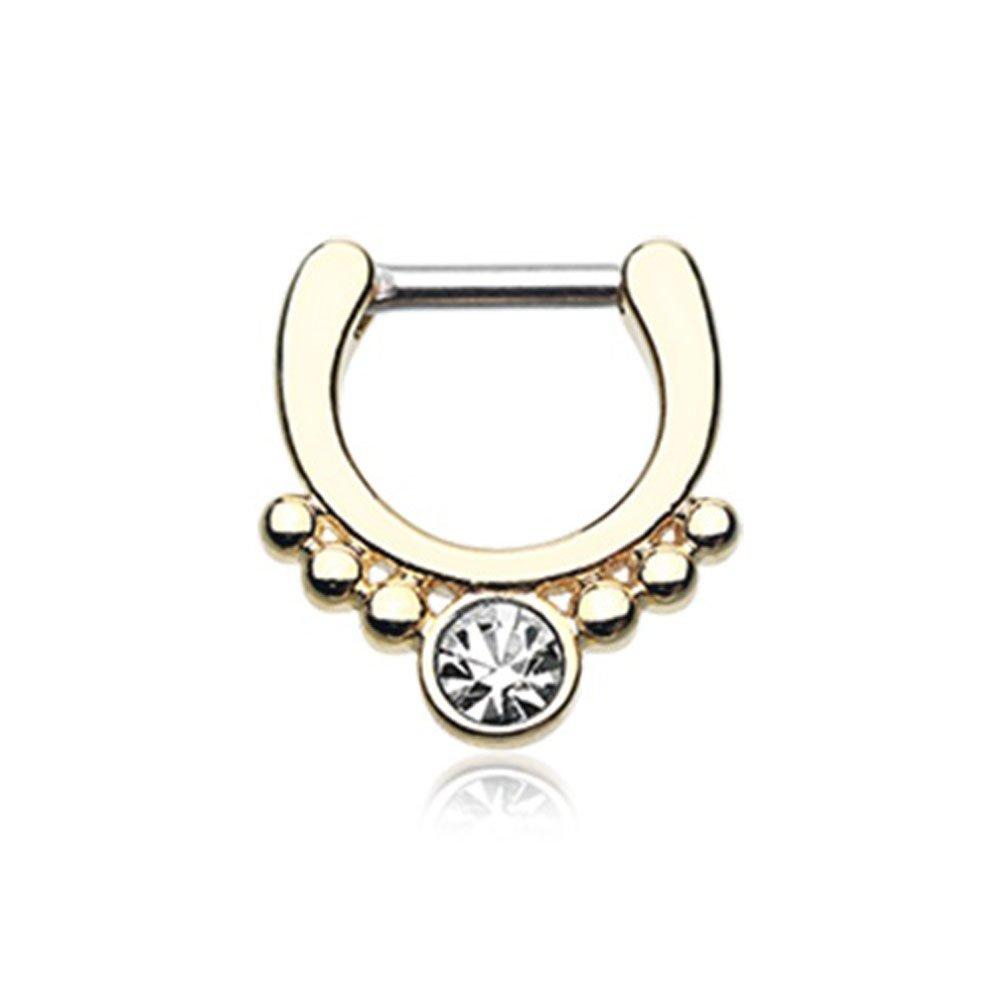 Golden Gem Grandiose Septum Ring