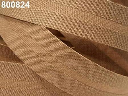Cinta al bies de algodón, ancho 20 mm, plegada, azúcar marrón: Amazon.es: Hogar