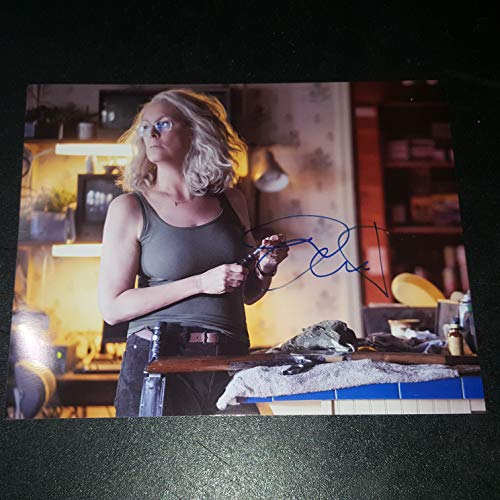 JAIME LEE CURTIS - Autographed Signed 8x10 inch Photograph - HALLOWEEN film 2018 03]()