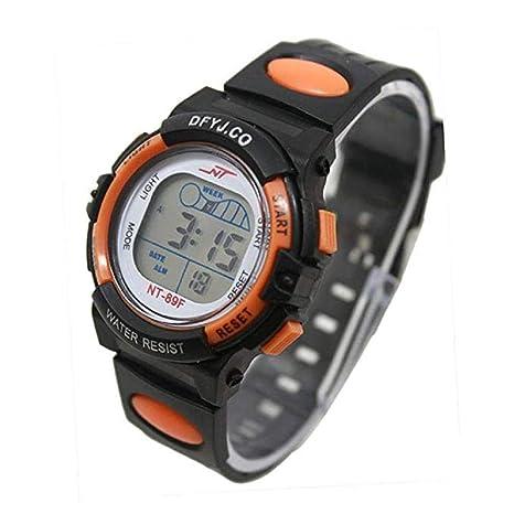 Scpink Reloj digital para niños Girl Boy Reloj con luz LED Alarma Fecha Multifunción Reloj deportivo