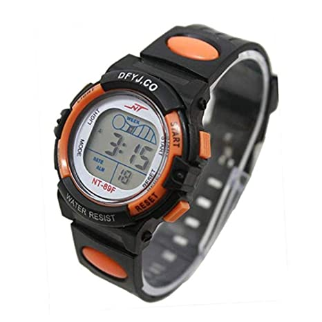 e41204b3d3d7 Scpink Reloj digital para niños Girl Boy Reloj con luz LED Alarma Fecha  Multifunción Reloj deportivo