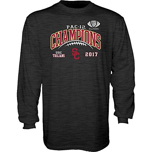 Usc Trojans T-shirt (USC Trojans Pac-12 Champs Long Sleeve Tshirt 2017 Charcoal - L)