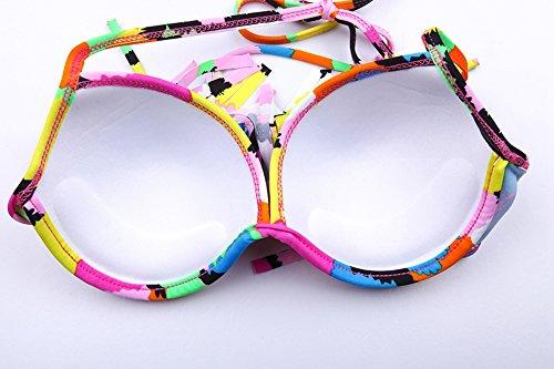 Bikini para las mujeres,Nuevo estilo de bikini colorido para la fiesta de la piscina Siete colores