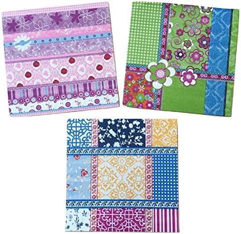 ペーパーナプキン 3種類 各5枚入 紙ナプキン デコパージュ