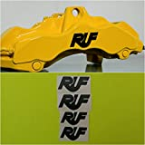R&G Porsche RUF HIGH TEMP Brake Caliper Decal Sticker Set of 4 (Black)