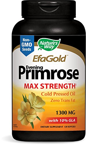 Nature's Way Evening Primrose, Efa Gold Cold Pressed Oil 1300mg, 120 Softgels