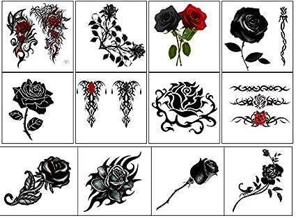 flor flower Temporary Tattoos collection Collezione di tatuaggi ...