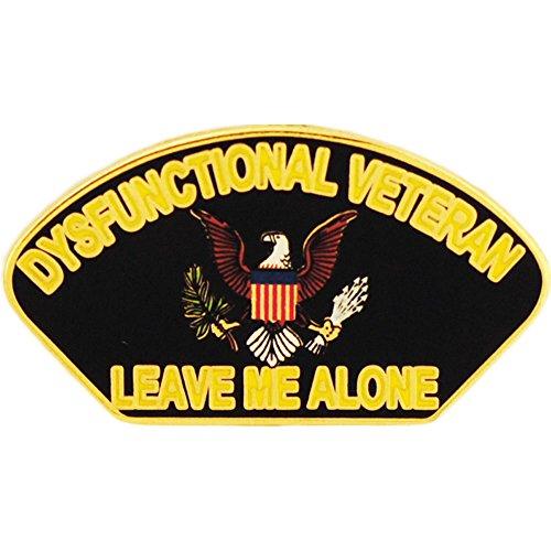Dysfunctional Veteran Humorous Pin Military Collectibles for Men Women