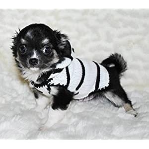XXS Dog Sweater Zebra Dog Costume XX Small dog Clothes Teacup Chihuahua Yorkie Puppy Clothing Hoodie
