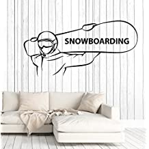 Vinyl Wall Decal Snowboarding Extreme Sports Snowboarder Stickers Large Decor (ig4668) Burgundy