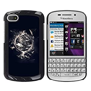 LECELL -- Funda protectora / Cubierta / Piel For BlackBerry Q10 -- Creation Of Life --