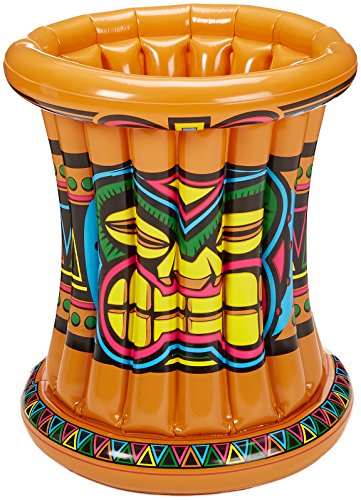 Beistle 50257 Inflatable Tiki Cooler, 22 by (Inflatable Luau Coolers)