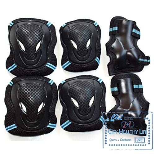 BeesClover Sports Safety LKP Knee Elbow Wrist Protective Suit Pads for SEBA Skating Skateboard Scooter Kids Adults Anti-Knock Guard Pad