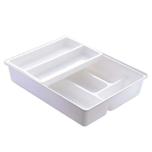 Deanyi Cocina Cubiertos para cajones separadores, Deslizante a Pisos de plástico cajón Organizador para Herramientas