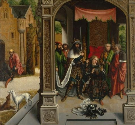 [Oil Painting 'Bernard Van Orley,The Knighting Of Saint Martin By The Emperor Constantine,1514' 30 x 33 inch / 76 x 83 cm , on High Definition HD canvas prints, Foyer, Nursery And Powder Room] (Emperor Constantine Costume)