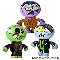 "5Star-TD Set of 3 Crazy Inflatable Zombies (24"") Party Decor/Favor Toy"