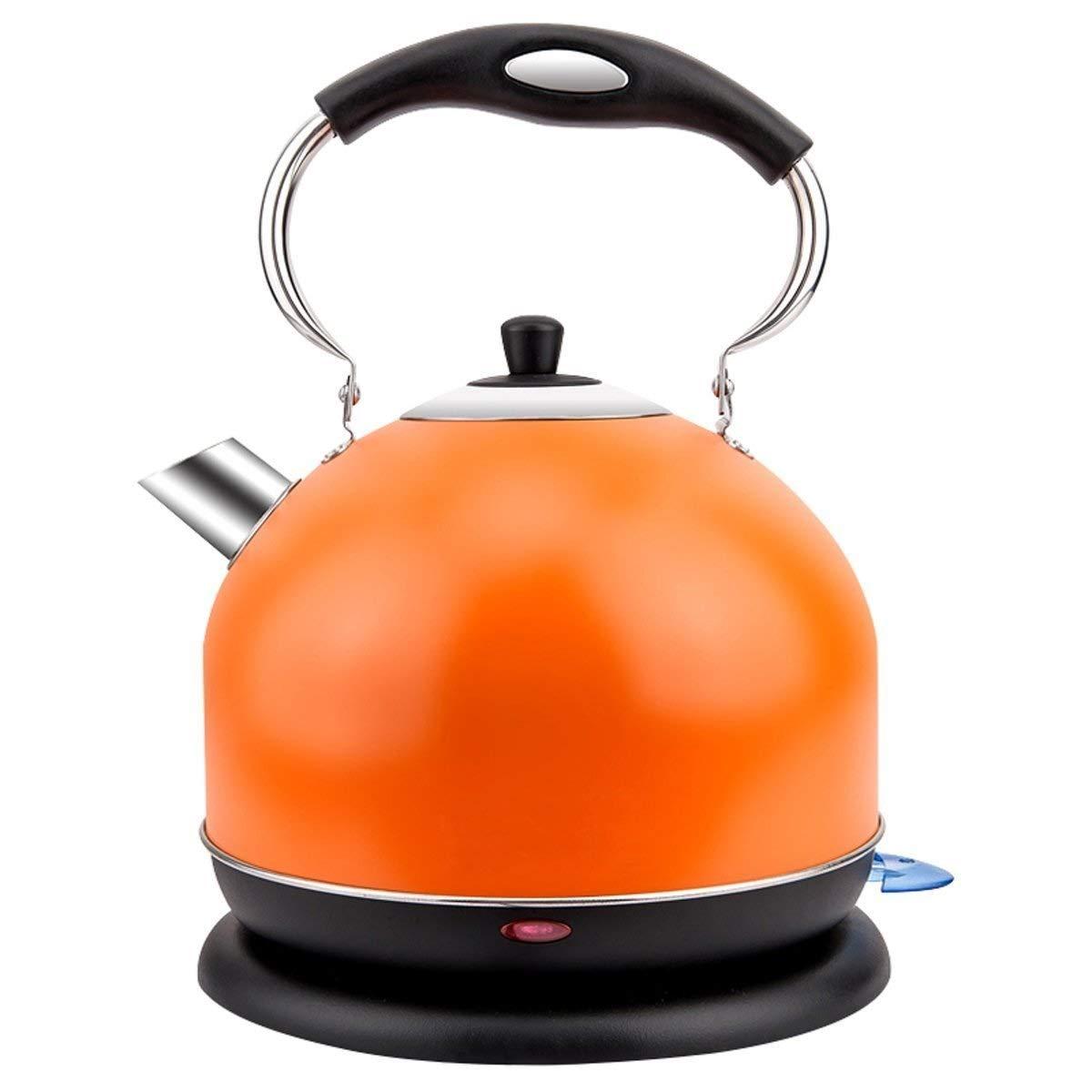 多様な 電気やかん304ステンレス鋼のやかん Orange)、自動絶縁材、自動電源オフ、大容量の反燃焼の乾いた電気やかん (色 (色 : : Orange) Orange B07NTSGM6F, 玄関ドアプロショップ:e7fff952 --- agiven.com